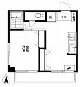 STマンション4F(空室)の間取り図