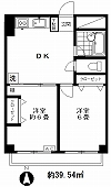 STマンション2F(入居中)の間取り図