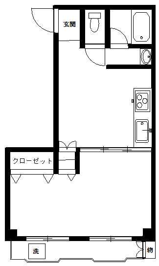 コバヤシコーポ3F(入居中)の間取り図
