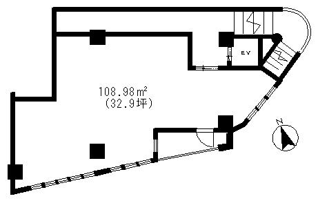 カスタリア2階貸事務所(入居中)の間取り図