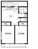 小泉ハイツ2F(入居中)の間取り図