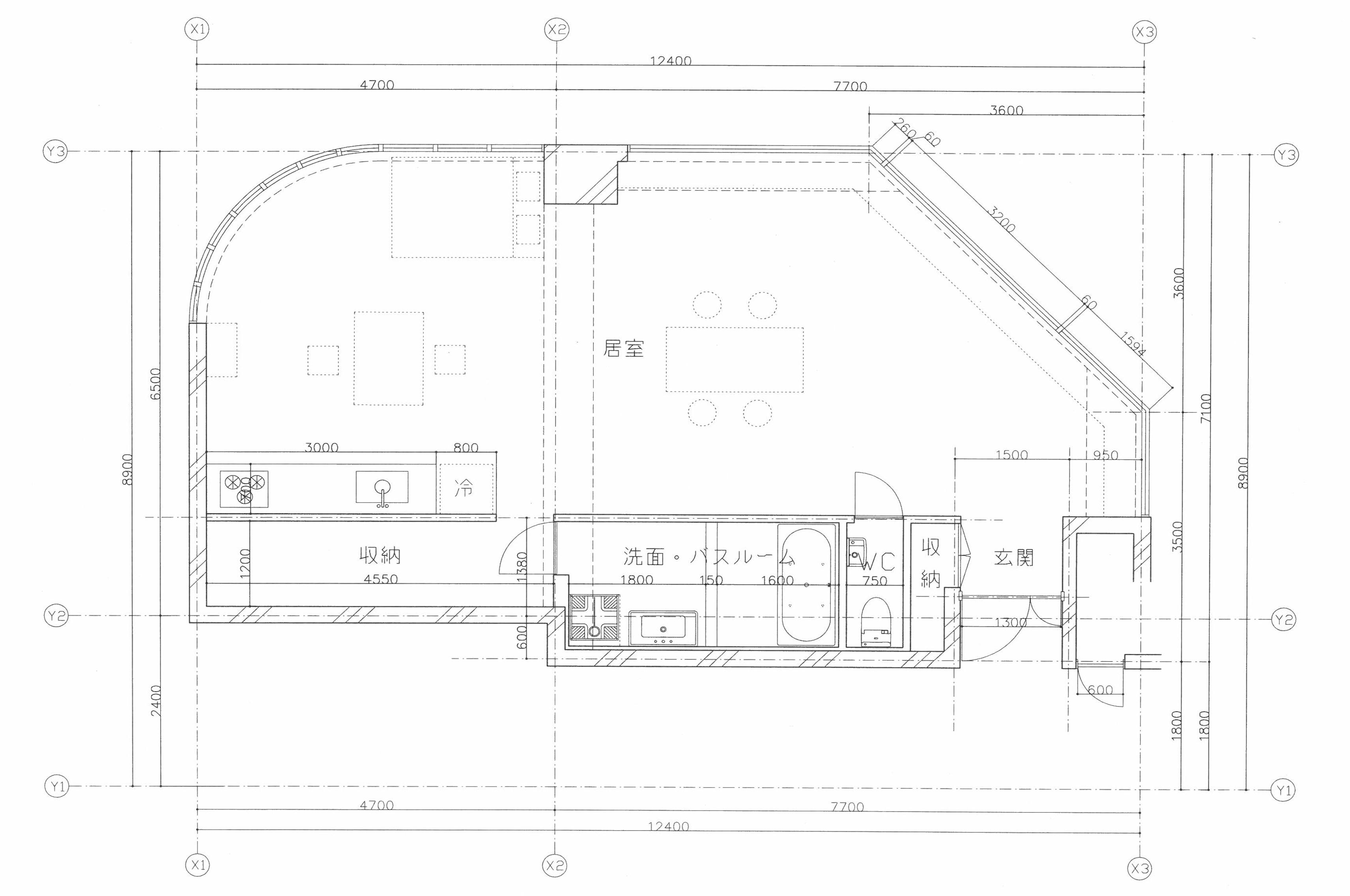 サウルスマンション202(空室)の間取り図
