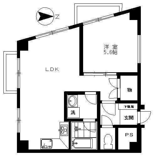 サウルスマンション3F (入居中)の間取り図