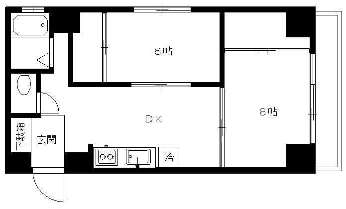 STマンション205(入居中)の間取り図