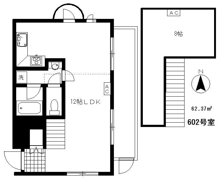 サウルスマンション6F(入居中)の間取り図
